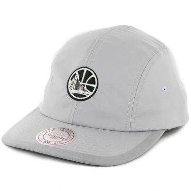 Mitchell & Ness Golden State Warriors Grey Poly Double Strapback Hat Grey