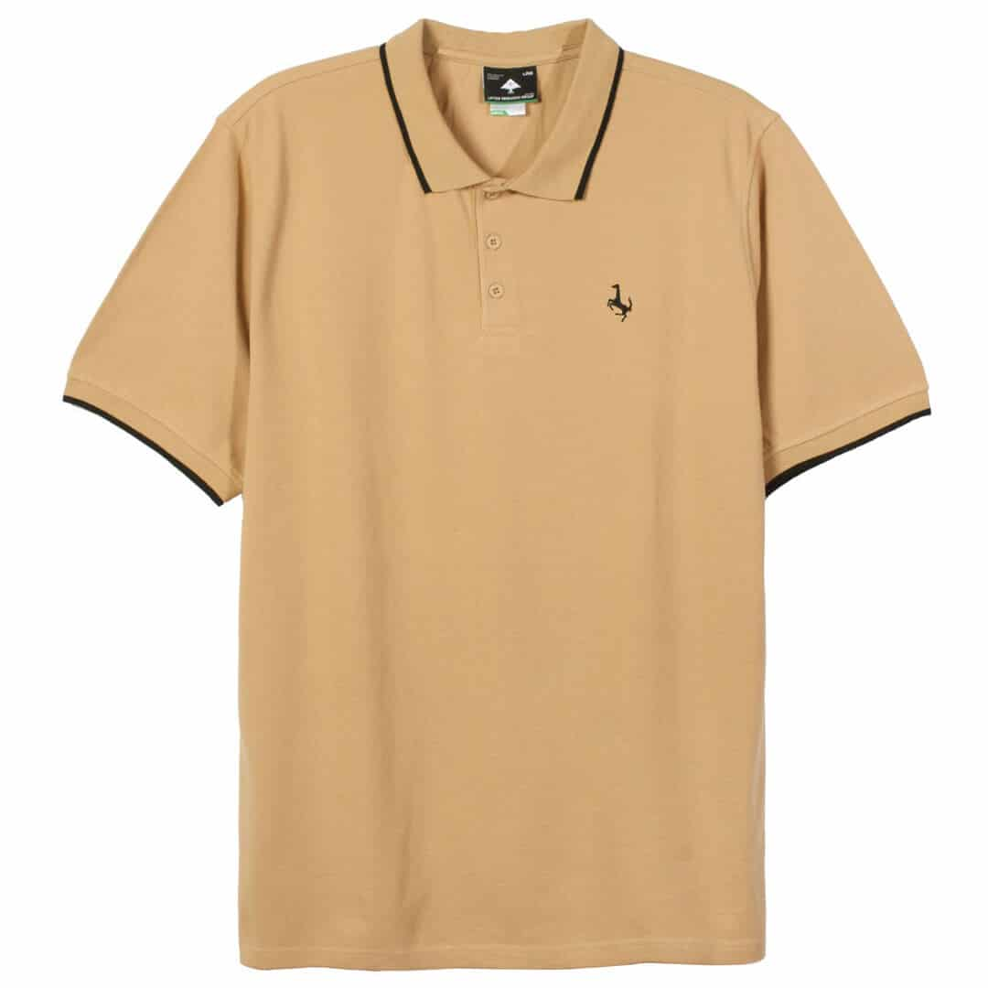 Lrg jiggy type polo shirt latte billion creation streetwear for Different types of polo shirts