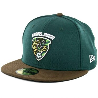 New Era 59Fifty Chiapas Jaguar Fitted Hat Dark Green Brown