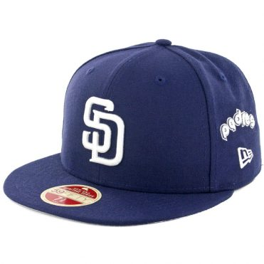 New Era 59Fifty San Diego Padres Logo Multiply Fitted Hat Navy