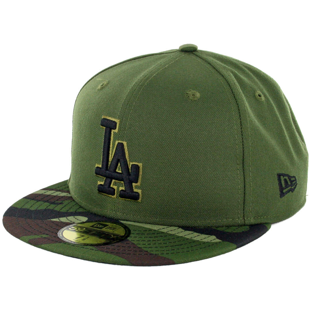New Era 59Fifty Los Angeles Dodgers 2017 Memorial Day Fitted Hat Hunter  Green Camo - Billion Creation Streetwear 276ab885402