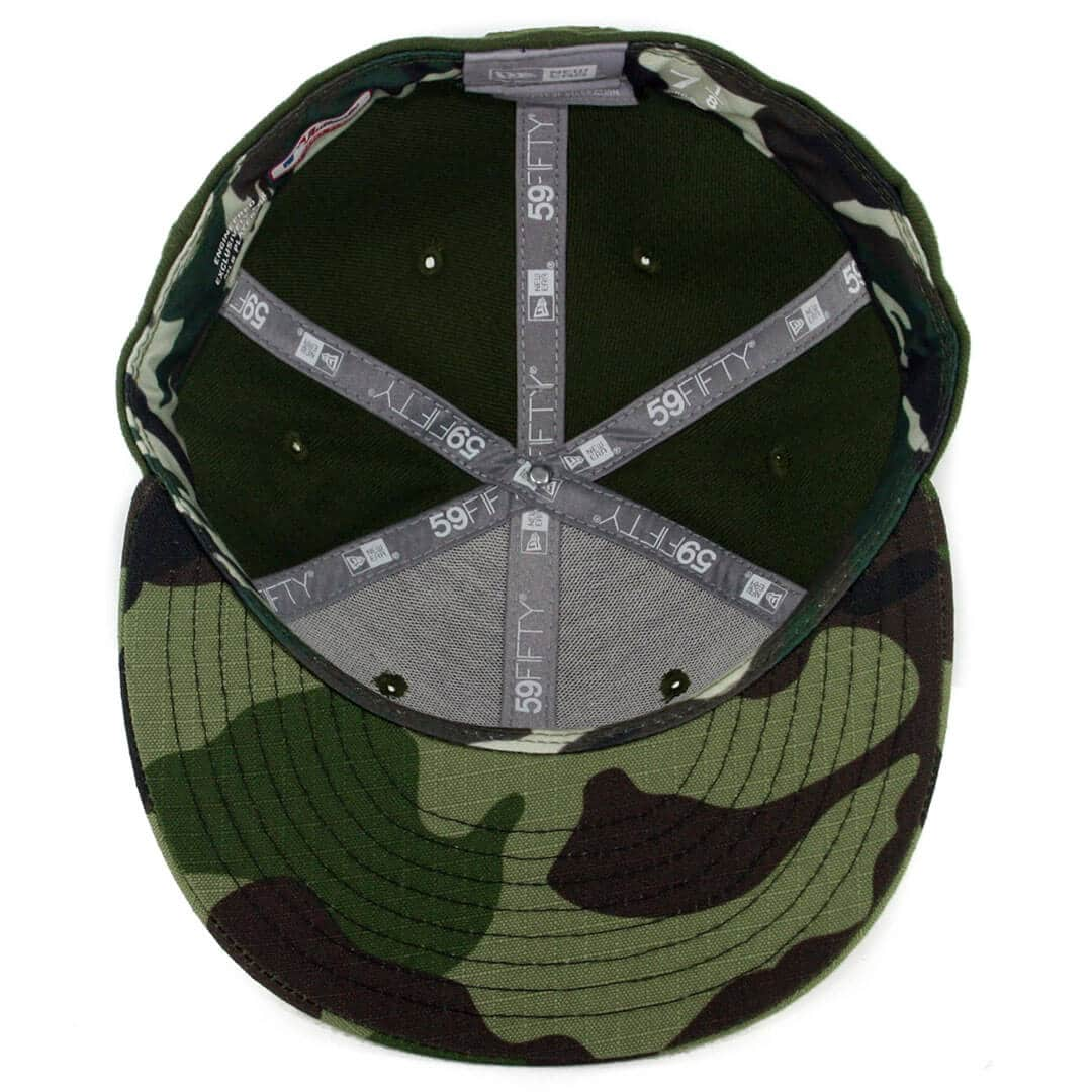 126949d0 New Era 59Fifty Los Angeles Dodgers 2017 Memorial Day Fitted Hat Hunter  Green Camo