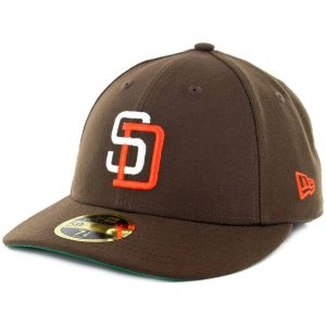 SD Hat Collectors x Billion Creation New Era 59Fifty Low Profile San Diego Padres Fitted Hat Brown White Orange
