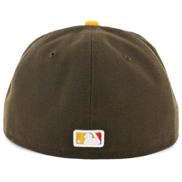 SD Hat Collectors x Billion Creation New Era 59Fifty San Diego Padres Fitted Hat Brown White Orange-Gold