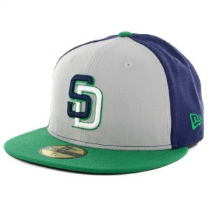 SD Hat Collectors x Billion Creation New Era San Diego Padres Fitted Hat Navy Grey White Kelly Green