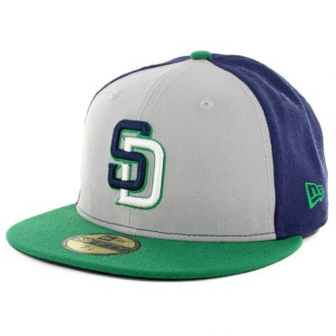 New Era x Billion Creation New Era 59Fifty San Diego Padres Fitted Hat Navy Grey White-Kelly Green