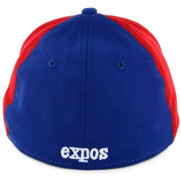 New Era 39Thirty Montreal Expos CO Team Classic Stretch Fit Hat Royal Blue Red White