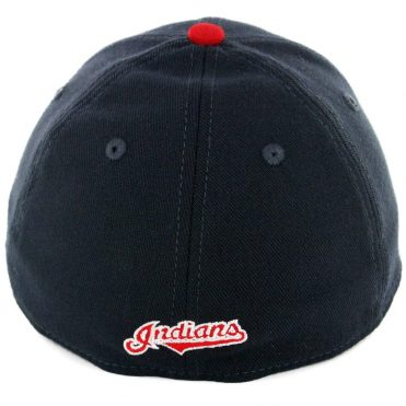 New Era 39Thirty Cleveland Indians Home Team Classic Stretch Fit Hat Dark Navy Red