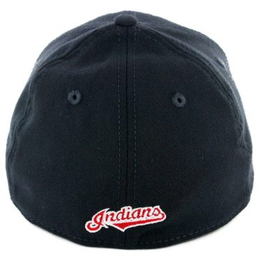New Era 39Thirty Cleveland Indians Road Team Classic Stretch Fit Hat Dark Navy