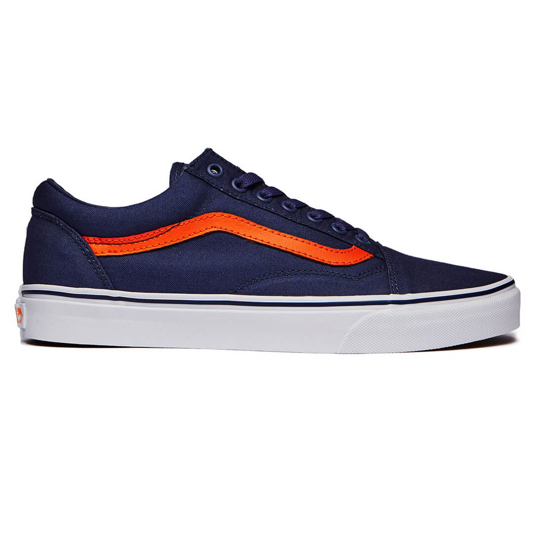 Mandarin Orange Pop Shoe Blue Billion Vans Skool Old Crown Canvas Enw80Wq