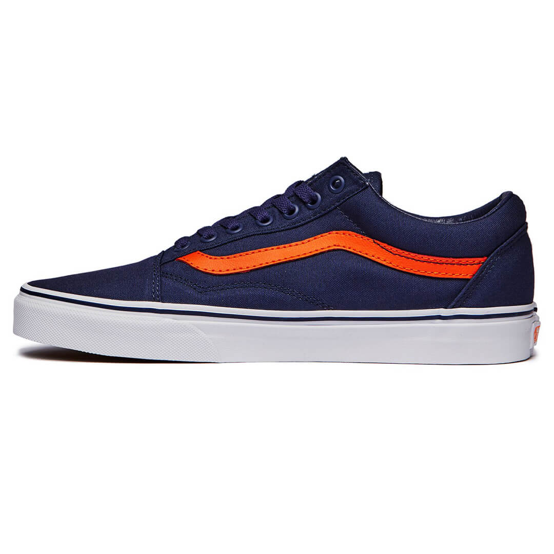 vans old skool blue and orange