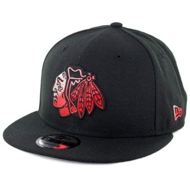 New Era 9Fifty Chicago Blackhawks Color Dim Snapback Hat Black