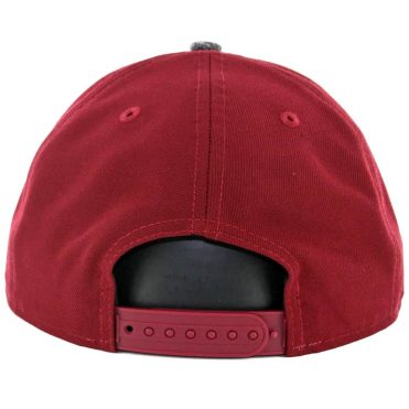New Era 9Fifty Cleveland Cavaliers Shadow Filled Snapback Hat Burgundy