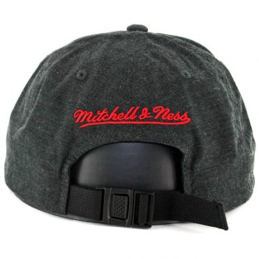 Mitchell & Ness Chicago Bulls Cotton Melange Strapback Hat Black Heather