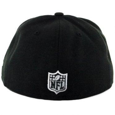 New Era 59Fifty Oakland Raiders Color Dim Fitted Hat Black