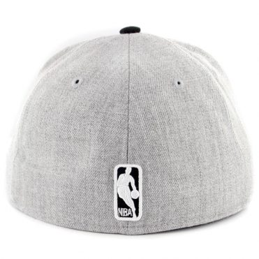 New Era 59Fifty Chicago Bulls Heather Action Fitted Hat Heather Grey Black