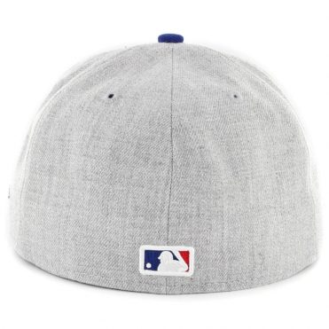 New Era 59Fifty Los Angeles Dodgers Heather Action Fitted Hat Heather Grey Royal Blue