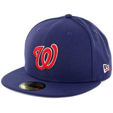 New Era 59Fifty Washington Nationals Patriotic Trim Fitted Hat Light Navy