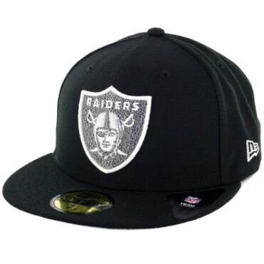 New Era 59Fifty Oakland Raiders Team Twisted Fitted Hat Black