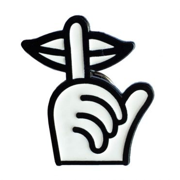 The Quiet Life Shhh Hand Lapel Pin