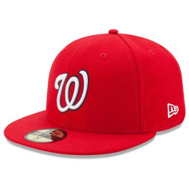 New Era 59Fifty Washington Nationals 2017 Home Youth Authentic On Field Fitted Hat