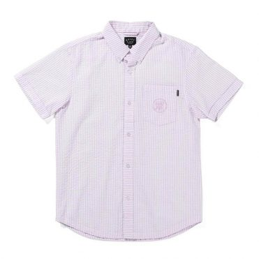 The Quiet Life Seersucker Button Down Shirt Pink