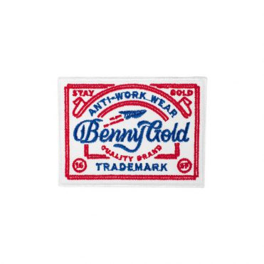 Benny Gold  Anti-Work Wear Patch White