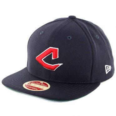 New Era 9Fifty Cleveland Indians Original Vintage Snapback Hat Dark Navy