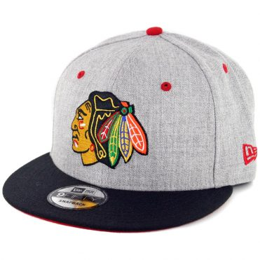 New Era 9Fifty Chicago Blackhawks Snapback Heather Graphite Black