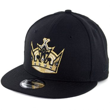 New Era 9Fifty Los Angeles Kings Crown Snapback Hat Black
