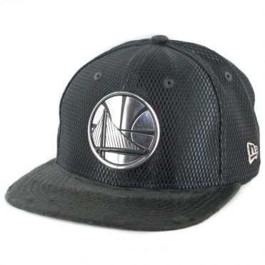 New Era 9Fifty Golden State Warriors On Court Official 2017 Snapback Hat Graphite