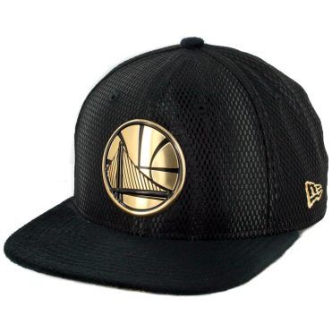 New Era 9Fifty Golden State Warriors On Court Official 2017 Snapback Hat Black
