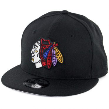 New Era 9Fifty Chicago Blackhawks Snapback Hat Black Multi