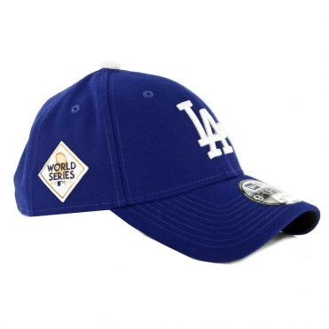 New Era 9Forty Los Angeles Dodgers Game World Series 2017 The League Strapback Hat Dark Royal