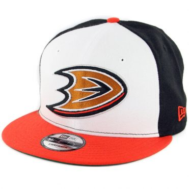 New Era 9Fifty Anaheim Ducks Snapback Hat Black White Orange
