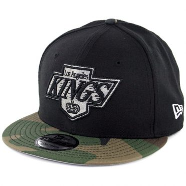 New Era 9Fifty Los Angeles Kings Snapback Hat Black Woodland Camo