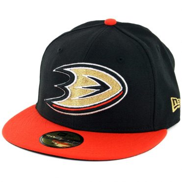 New Era 59Fifty Anaheim Ducks Fitted Hat Black Orange