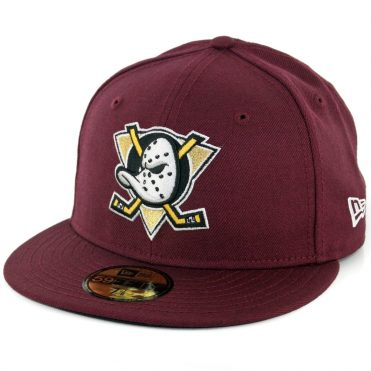New Era 59Fifty Anaheim Ducks Fitted Hat Maroon
