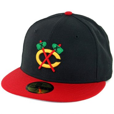 New Era 59Fifty Chicago Blackhawks ALT Fitted Hat Black Scarlet Red