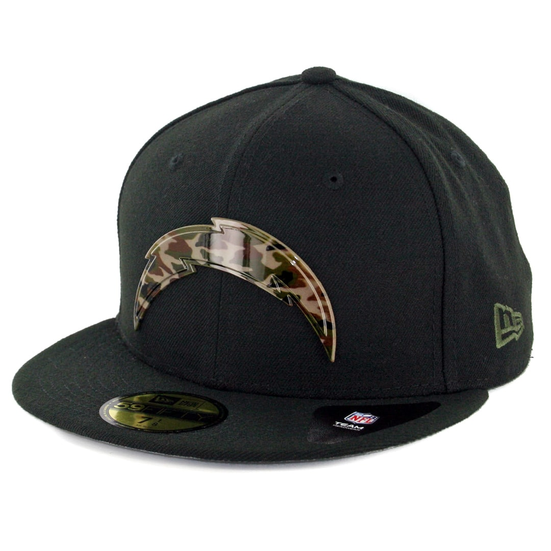 New Era 59fifty Los Angeles Chargers Camo Badge Fitted Hat