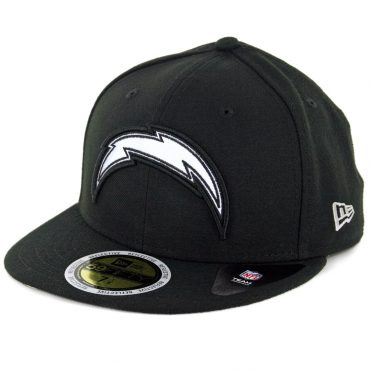 New Era 59Fifty Los Angeles Chargers Flected Team Fitted Hat Black