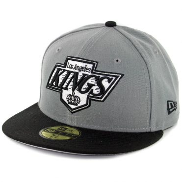 New Era 59Fifty Los Angeles Kings Fitted Hat Storm Gray White Black