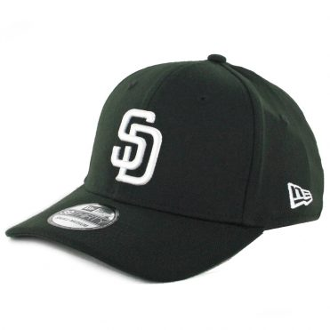 New Era 39Thirty San Diego Padres Stretch Fit Hat Black White