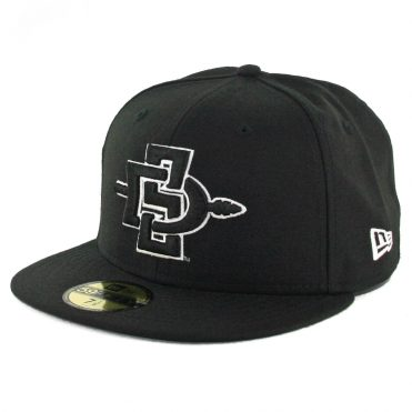 New Era 59Fifty San Diego State University Aztecs Fitted Hat Black White