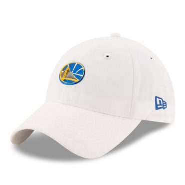 New Era 9Twenty Golden State Warriors On Court Official 2017 Strapback Hat White
