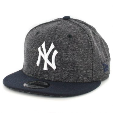 New Era 9Fifty New York Yankees Tweed Turn Snapback Hat Heather Graphite Dark Navy