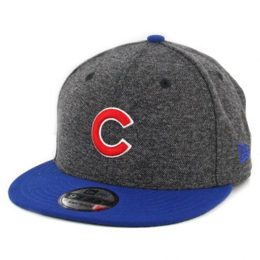 New Era 9Fifty Chicago Cubs Tweed Turn Snapback Hat Heather Graphite Royal Blue