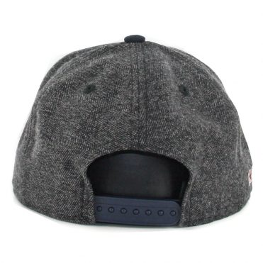 "New Era 9Fifty Anaheim Angels Coop ""a"" Tweed Turn Snapback Hat Heather Graphite Dark Navy"