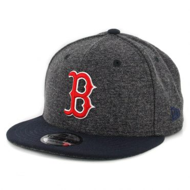 New Era 9Fifty Boston Red Sox Tweed Turn Snapback Hat Heather Graphite Dark Navy
