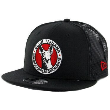 New Era 9Fifty Tijuana Xolos Official Trucker Snapback Hat Black